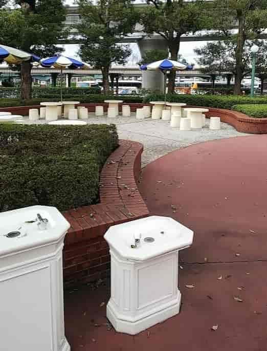 東京ディズニーランド ピクニックエリアの手洗い所