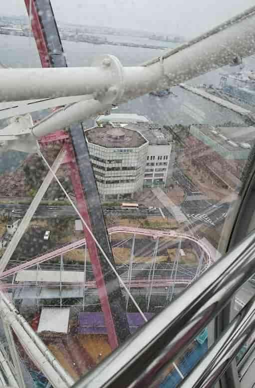 横浜コスモワールド観覧車からの眺め