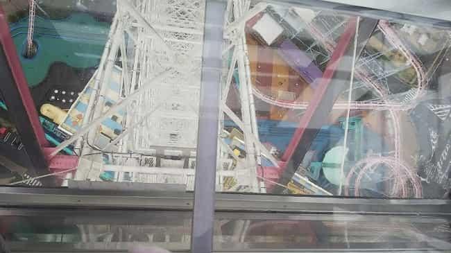 横浜コスモワールド観覧車がガラス張り